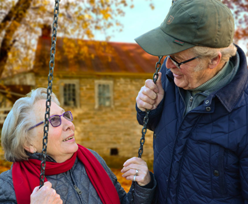 Elderly Couple Staying Active